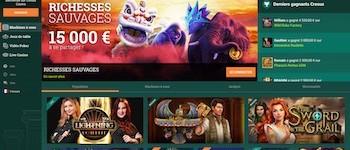 Cresus website screenshot