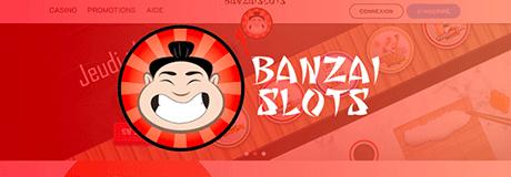 BenzaiSlots casino's banner